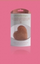 Burete inima Konjac French Pink Clay (roz) - ten obosit, devitalizat